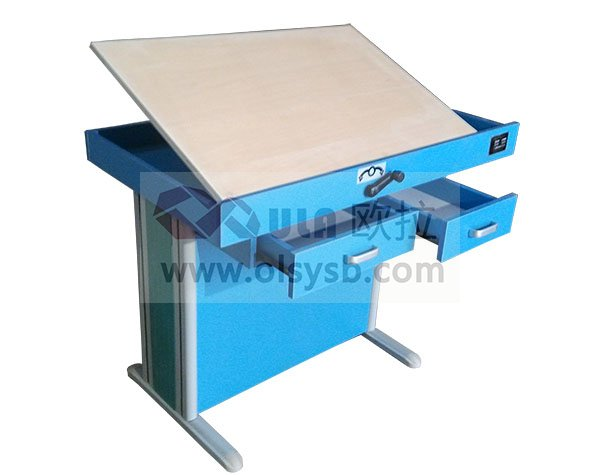 蓝色学校专业绘图桌样式图-OGTS-01B型